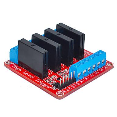 vier für Arduino Solid-State-Relais (rot)