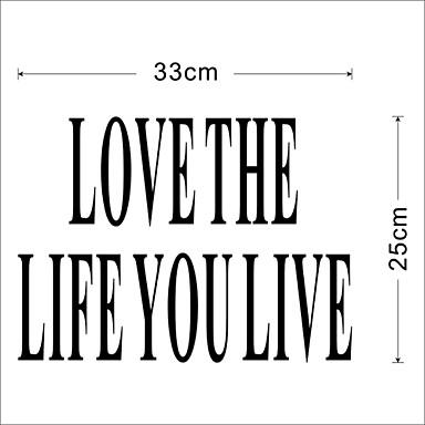 당신이 벽 데칼을 사는 삶을 사랑 zooyoo8177 장식 DIY 이동할 수있는 비닐 벽 스티커