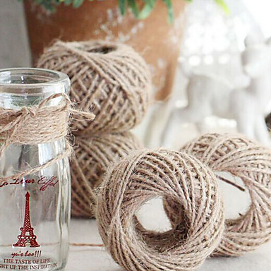 Solid Color Jute Wedding Ribbons Piece/Set Weaving Ribbon Gift Bow Decorate favor holder Decorate gift box Decorate wedding scene