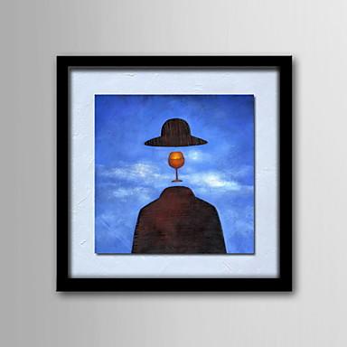 Peint à la main Fantaisie Carré Toile Peinture à l'huile Hang-peint Décoration d'intérieur Un Panneau