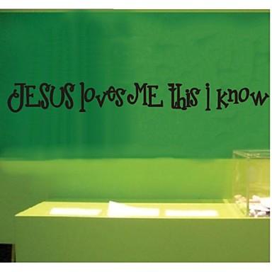 Jeesus rakastaa minua tässä olen mknow lainaus seinätarrat zooyoo8020 koriste seinä sisustus irrotettava vinyyli seinä tarroja
