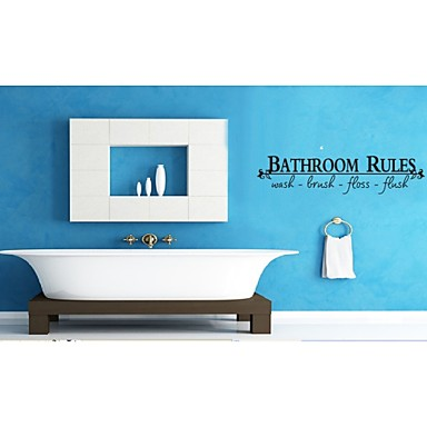 Bathroom Rules Home Decoration Quote Wall Decals Zooyoo8044 Decorative Adesivo De Parede Removable Vinyl Wall Stickers