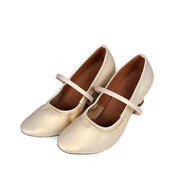 Women's Dance Shoes for Latin/Salsa in Brown/Silver/Gold Customizable