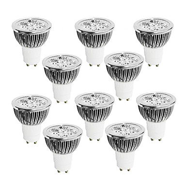 billige Elpærer-10pcs 4 W 400-450 lm GU10 LED-spotpærer 4 LED perler Høyeffekts-LED Mulighet for demping Varm hvit / Kjølig hvit / Hvit 220-240 V / 10 stk. / RoHs