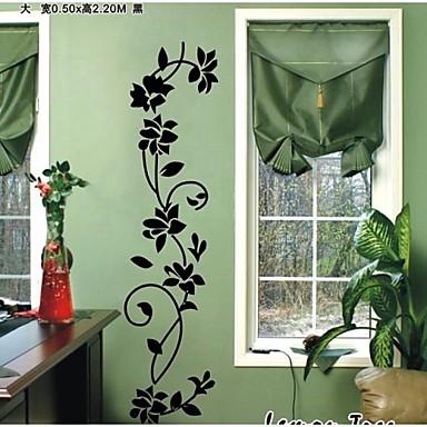 klassinen musta kukkia viiniköynnöksen Seinätarrat zooyoo8139 koriste adesivo de Parede irrotettava vinyyli seinä tarra