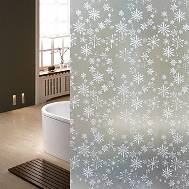 Bathroom window film stickers snowflake glass door for 100 cm window box