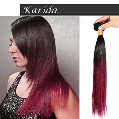 3 demetleri 12-30 inç% 100 bakire Brezilyalı saç ombre düz ucuz boyalı olabilir