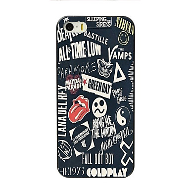 Case Kompatibilitás Apple iPhone 8 iPhone 8 Plus iPhone 5 tok iPhone 6 iPhone 6 Plus iPhone 7 Plus iPhone 7 Minta Fekete tok Szó /