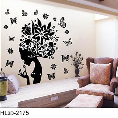 Botanik Karton Manzara İnsanlar Duvar Etiketler Uçak Duvar Çıkartmaları Dekoratif Duvar Çıkartmaları Malzeme Çıkarılabilir Ev dekorasyonu