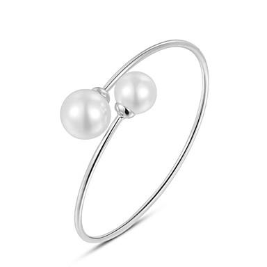 Damen Perle Künstliche Perle Armreife - Simple Style Armbänder Für Hochzeit Party Alltag