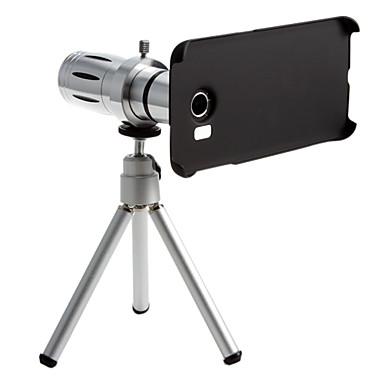 Metal smartphone 12 x zoom telefoto lens samsung s6 kenarı için tripod ile belirlenen