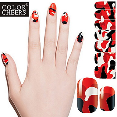 14PCS Pro-environment Full Nail Art Stickers