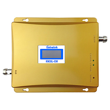 Lintratek® Dual Band GSM 3G Signal Repeater 900mhz 2100mhz WCDMA Signal Amplifier 3G Cell Phone Booster UMTS LCD Display