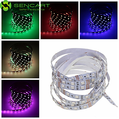 SENCART 2m Flexible LED Light Strips 120 LEDs 5050 SMD Warm White / RGB / White Remote Control / RC / Cuttable / Dimmable 12 V / Linkable / Suitable for Vehicles / Self-adhesive