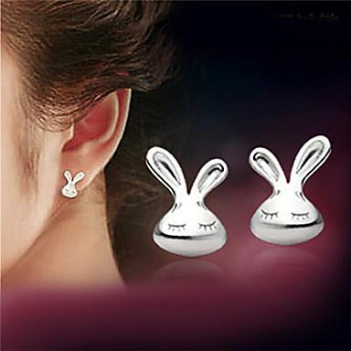 Damen Sterling Silber Silber Ohrstecker - Weiß Ohrringe Für Party Alltag Normal