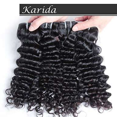 3 psc/Lot Karida High Quality Indian Cheap Remy Human Hair, Raw Unprocessed Virgin Indian Hair