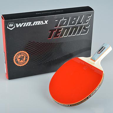 winmax® 1 stjerne enkelt bordtennis / ping-pong rakett kort håndtak med en farge pakking boksen
