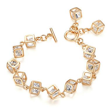 Damen Kristall Bettelarmbänder - Krystall Einzigartiges Design, Modisch Armbänder Gold Für Hochzeit Party Alltag