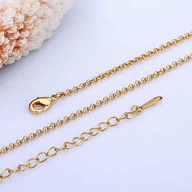 baratos Bijuteria de Mulher-Mulheres Colares em Corrente senhoras Banhado a Ouro 18K Pérola Amarelo Ouro Dourado Branco Colar Jóias Para