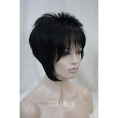 povoljno Perike i ekstenzije-Sintetičke perike Ravan kroj Stil Capless Perika 1 6TR Sintentička kosa Perika Hivision