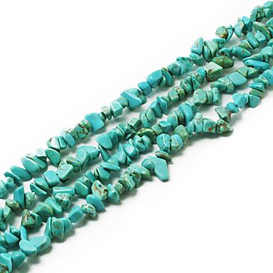 beadia turkoosi kivi helmet 5-8mm epäsäännöllinen muoto DIY löysä helmiä sovi kaulakoru rannekoru korut 34