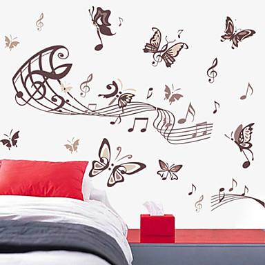 duvar çıkartmaları duvar çıkartmaları tarzı müzik kelebek pvc duvar çıkartmaları
