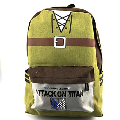 Torba Zainspirowany przez Attack on Titan Cosplay Anime Akcesoria do Cosplay Torba / plecak Žlutý Nylon / PVC (polichlorek winylu)Męskie