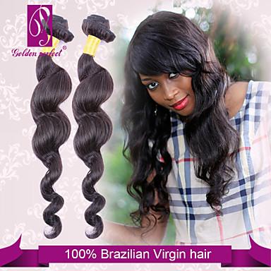 baratos Extensões de Cabelo Natural-3 pacotes Cabelo Brasileiro Clássico Ondulação Larga 10A Cabelo Virgem Cabelo Humano Ondulado 14-22 polegada Tramas de cabelo humano Extensões de cabelo humano Mulheres