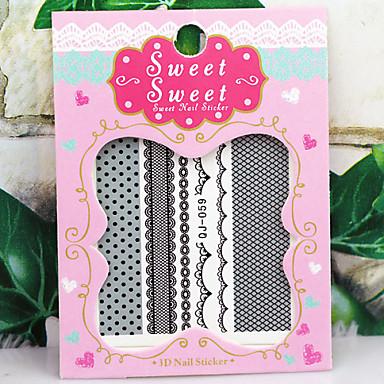 3D Nail Stickers - Muuta - Lovely - Sormi - 6.2*5.3*0.1