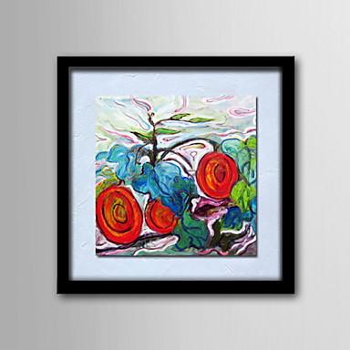 ελαιογραφίες ένα πάνελ σύγχρονη αφηρημένη λουλούδια ζωγραφισμένα στο χέρι καμβά έτοιμος να κρεμάσει