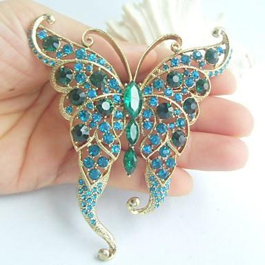 Turquoise Forme d'Animal Papillon Écran couleur Bijoux Pour