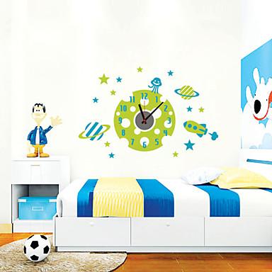 Moderno/Contemporâneo Personagens Inspiracional Casamento Família Amigos Desenho Animado Relógio de parede,Redonda InovadorPlástico