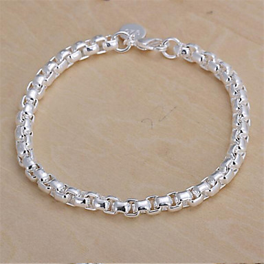 Women's Bracelet/Chain Bracelets Silver Plated Drop Teardrop For Wedding Party Daily Casual Jewelry Silver White 1PC Christmas Gifts