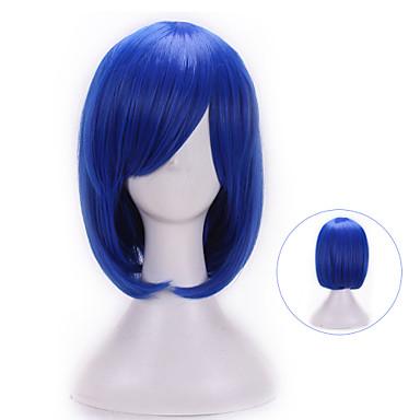 Damen Synthetische Perücken Natürlich gewellt Blau Mit Pony Halloween Perücke Karnevalsperücke Kostümperücke