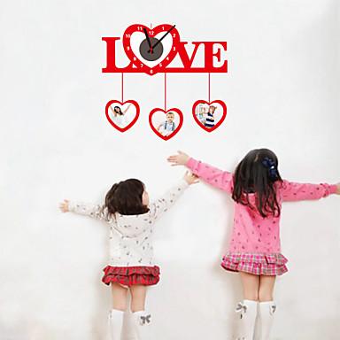 DIY 3d ρολόι αγάπη τοίχου