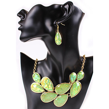 Jewelry Set Vintage Cute Party Casual Statement Jewelry Cute Style Party Gemstone & Crystal Cubic Zirconia Alloy Necklace Earrings