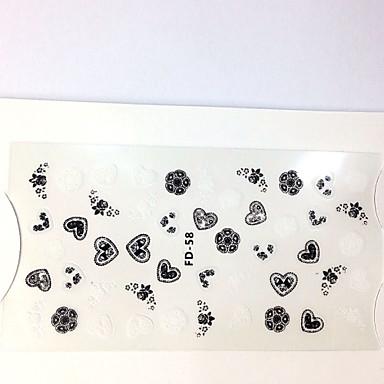 1 3D 네일 스티커 기타 장식 과인 꽃 추상화 클래식 카툰 러블리 웨딩 펑크 일상 과인 꽃 추상화 클래식 카툰 러블리 웨딩 펑크 고품질