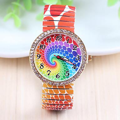 Xu™ Bayanların Moda Saat Sahte Elmas Saat Quartz Paslanmaz Çelik Bant Çok-Renkli