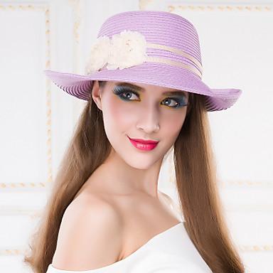 Femme Vannerie Casque-Décontracté Extérieur Chapeau 1 Pièce