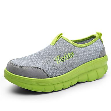 Kadın Ayakkabı Tül Bahar Yaz Sonbahar Rahat Düz Taban Uyumluluk Günlük Siyah Pembe Koyu Yeşil