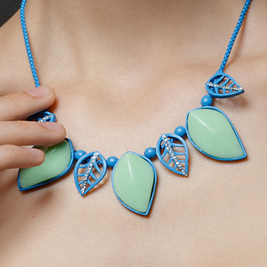Party/Special Occasion Blue Leaves Necklaces Classical Feminine Style