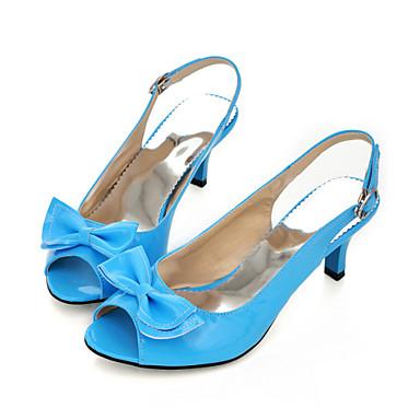 05579948 Rojo abierta Primavera Fiesta y Azul Sandalias Tacón Fiesta Noche Stiletto Noche Cuadrado Verano y Pajarita Rosa Mujer PU Zapatos Punta Tacón 7q1wOvB