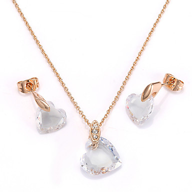 Women's Jewelry Set Crystal Crystal Cubic Zirconia Imitation Diamond Alloy Love Cute Style Wedding Party Daily Casual Earrings Necklaces
