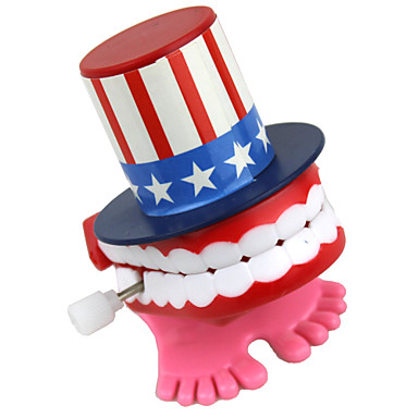 Wind-up Toy Stress Relievers Toys Fun Tooth Hat Plastic 1 Pieces Gift