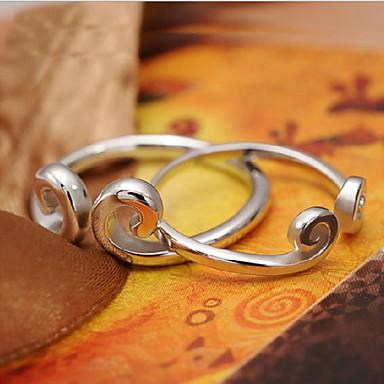 Кольца Регулируется Для вечеринок Бижутерия Женский Массивные кольца 1шт,Стандартный размер Серебряный