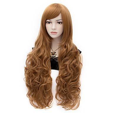 Парики из искусственных волос / Маскарадные парики Кудрявый Искусственные волосы Коричневый Парик Жен. Очень длинный Парик для Хэллоуина