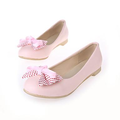 Similicuir Rose Printemps Talon Beige Eté Femme Plat Noir Chaussures Noeud Ballerine 03708855 v5wqECBx
