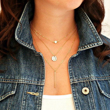 Women's Layered Layered Necklace - Personalized, Fashion, Multi Layer Screen Color Necklace For