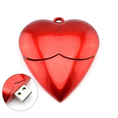 ρομαντική κόκκινη καρδιά μοντέλο μνήμης USB 2.0 4GB ραβδί λάμψης κίνησης μανδρών