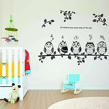 hayvan duvar etiketi hayvanlar kreş bebek çocukları oda dekal duvar dekorasyon